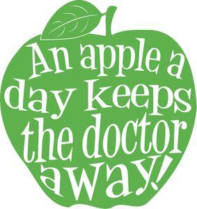 An apple a day keeps the doc away ! - Nice cream à la pomme