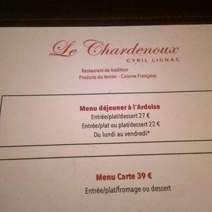 Un dîner au Chardenoux, Cyril Lignac