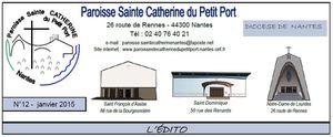Un bel édito sur le thème de la Rencontre nationale : Paroisse Ste Catherine du Petit Port à NANTES