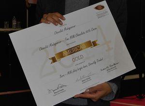 Chocolaterie Robert : Finaliste de l'International Chocolate Awards