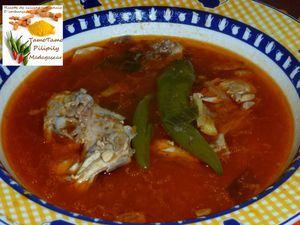 Romazava de poulet au gingembre et  poivre noir