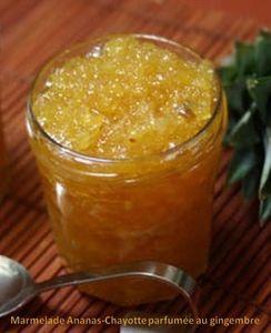 Marmelade Ananas-Chayotte parfumée au gingembre