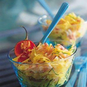 Salade malgache à la mangue et au crabe