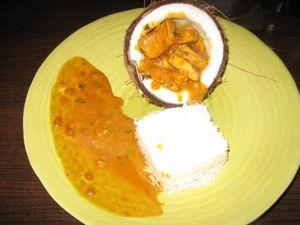 Escalopes de poulet façon malagasy