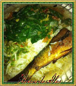 Bouillon de poissons aux brèdes mafane