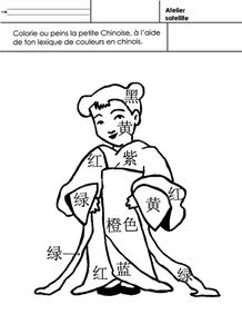 LA CHINE coloriage la Chinoise