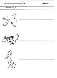 POULE ROUSSE, écriture en cursive