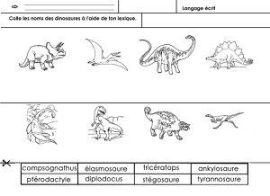 dinosaures, langage écrit