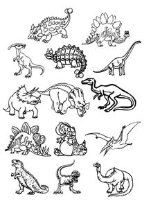 dinosaures, banque images 1