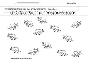 dinosaures, numération grande section