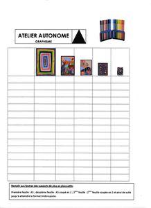 Ateliers autonomes graphisme