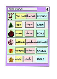 Noël, Logico: lexique pour fiches