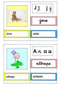 cartes mots: verbes