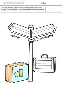 La valise, écriture Moyenne Section