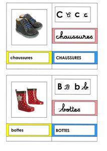 les vêtements : cartes-mots