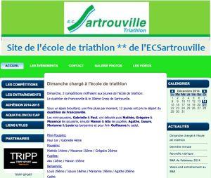Tripp Sport est partenaire de l'école de triathlon de Sartrouville.