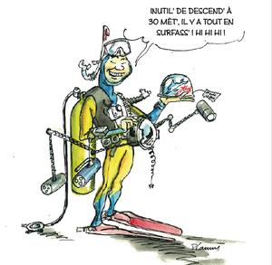 Vacances palmeurs plongeurs du val d 39 ancre - Dessin plongeur ...