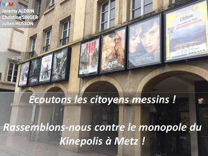 La Culture pour Tous du maire de Metz, c'est tout sauf le cinéma !