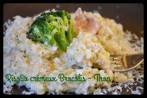 Risotto crémeux brocolis et thon