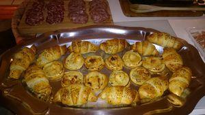 Mini-croissant à la pancetta