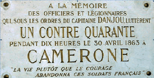 ~ 30 Avril 1863… Il y a 152 ans : CAMERONE ~