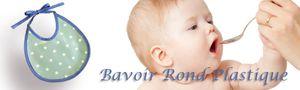 collection bavoir en plastique pour bébé