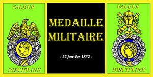 DEMANDE D'ATTRIBUTION DE LA MEDAILLE MILITAIRE...