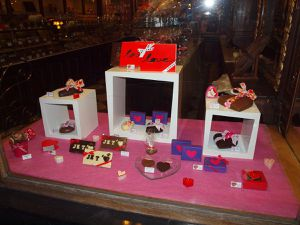 Vitrine Chocolaterie Monet Saint Valentin