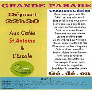 parade nocturne de Gédéon et Arthurine