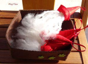 Mes bricoles en laine feutrée à suspendre dans le sapin
