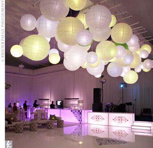 lanternes en papier éclairées avec led pour mariage, et autres fetes de famille