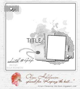 Tournoi Eté - Défi #1 - Sketch Page chez Scrapandco
