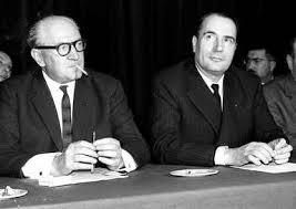 Guy MOLLET et François MITTERRAND