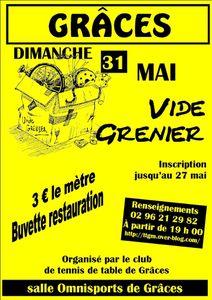 Vide grenier du 31 mai 2015 à Grâces (22200)