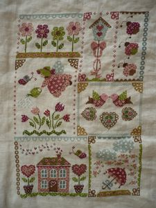 spring in quilt - FINI