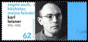 2015 - Commémoration du souvenir de Karl Leisner (1915-1945) - Pays émetteur: Allemagne - Valeur faciale: 62 c