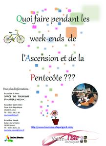 Quoi faire pendant les week-ends de l'Ascension et de la Pentecôte autour de Neuvic et St Astier ?