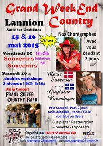 Les 15 et 16 mai - Grand Weekend Country à Lannion