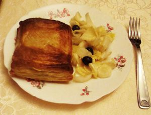 Feuilletés aux escargots, noix et roquefort