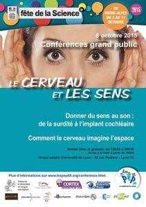 Conférence - Le cerveau et les sens - 6 oct 2015