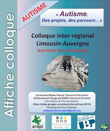 Colloque - Autisme : des projets, des parcours... - 19 mars 2016