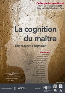 La cognition du maître - ENS Paris - 16-18 décembre 2015