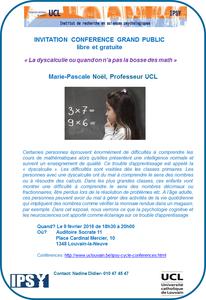 Conférence - La dyscalculie ou quand on n'a pas la bosse des maths