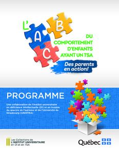 Programme L'ABC du comportement d'enfants ayant un TSA : des parents en action !