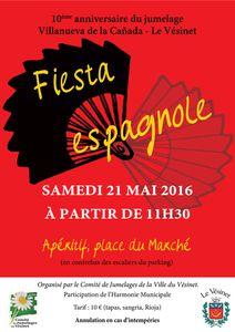 Fiesta espagnole samedi 21 mai 2016 dès 11h30