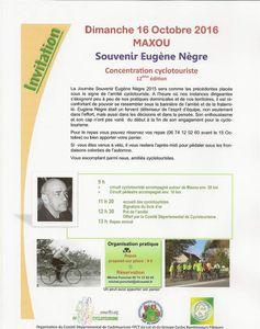 12ème Concentration cyclotouriste à MAXOU - Souvenir Eugène Nègre