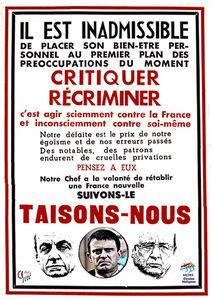 le transcendantal pétainiste français