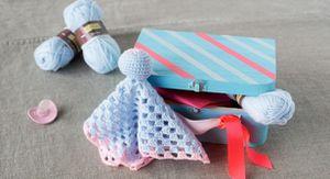 Doudou facile au crochet et ses couleurs pastel