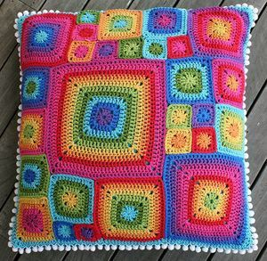 Coussin au crochet pep's