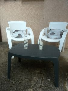 table salon de jardin relooker